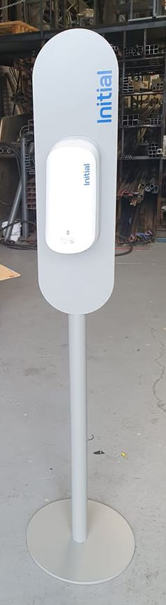 - Hand sanitiser stands2 - New Product Line for Metal Art