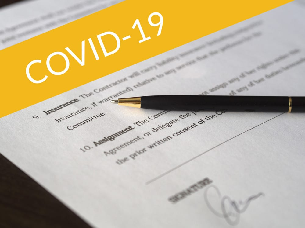 - legal agreements - COVID RECOVERY