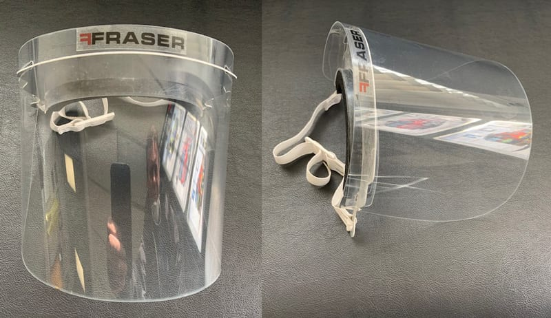- Fraser Engineering face shields - Fraser Engineering Expands its Product Range